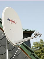 Satellite dish for the reception of skyDSL, skyDSL Flatrate from skyDSL satellite internet provider skyDSL