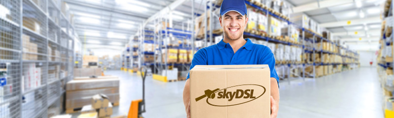 Delivery and payment information. It's that easy to pay at skyDSL.